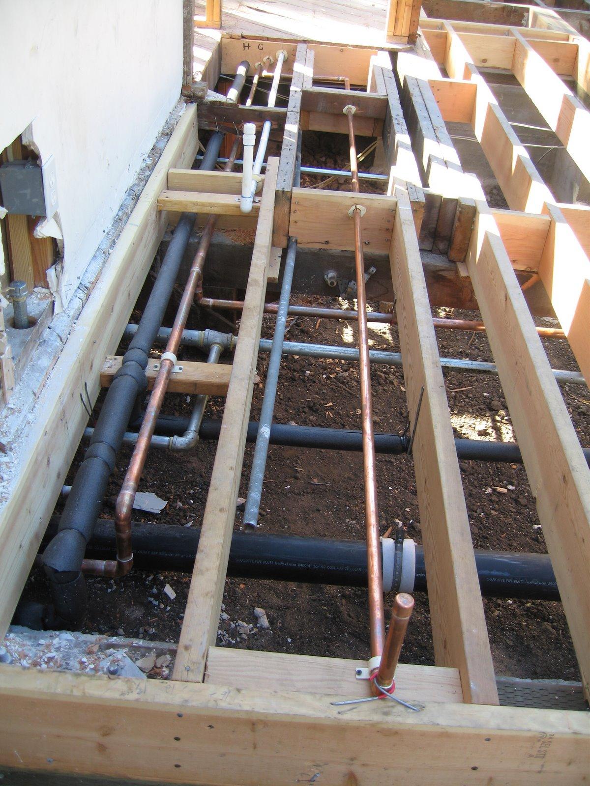 Pope Street Modern Underfloor Plumbing